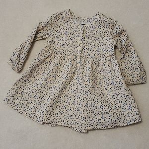 Baby GAP Yellow Blue Fall Flower Long Sleeve Dress